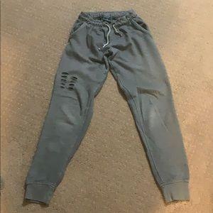 boys gray jogger sweatpants.